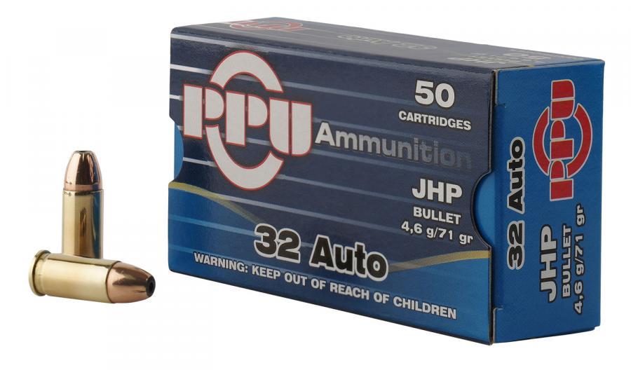 PPU Ppr3.11 Handgun 32 Automatic Colt