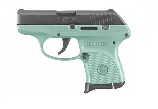 Ruger LCP 380acp Bl/turquoise 6+1