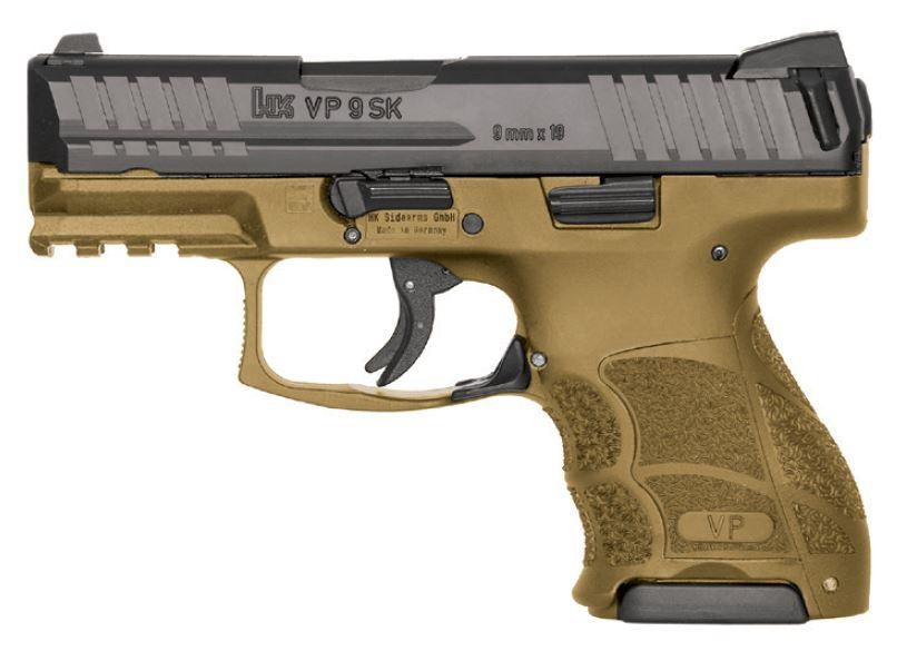 """HK Vp9sk 9mm 3.4"""" FDE 10rd"""