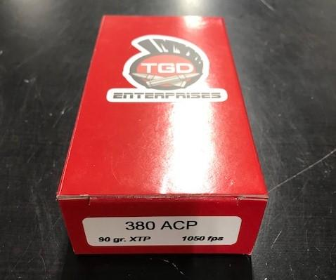50rd TGD Enterprises .380acp 90gr XTP
