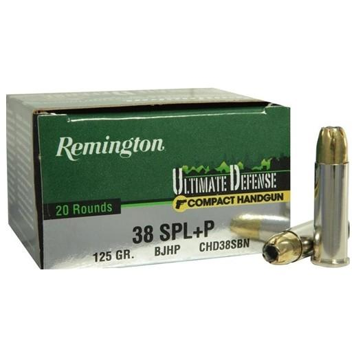 Remington Ultimate Defense 38spc 125gr HP