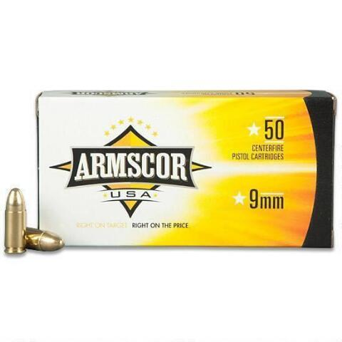 Armscor 9mm 147gr Fmj 50rds