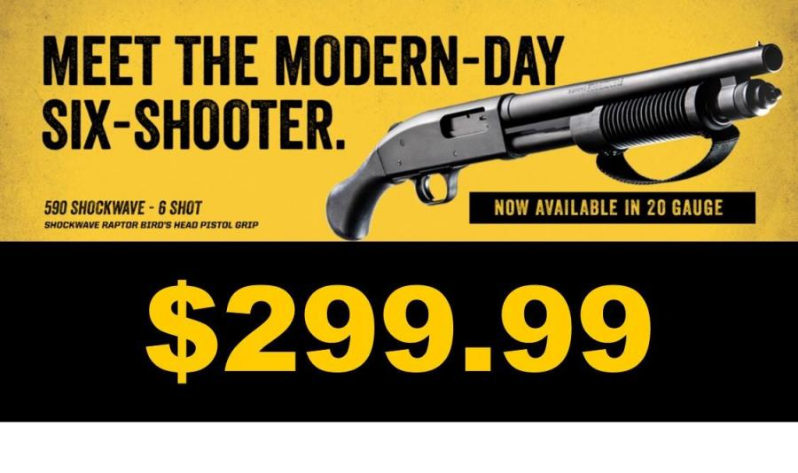 NEW Mossberg 590 Shockwave