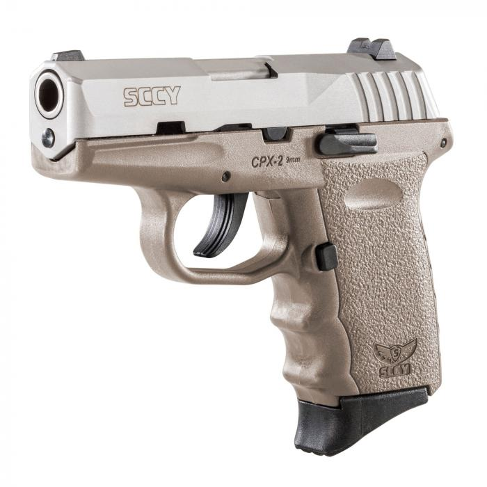 "Sccy Cpx-2 9mm 10rd 3.1"" Satin/fde"