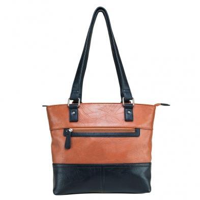 Tote Bag - Brown W/black Trim
