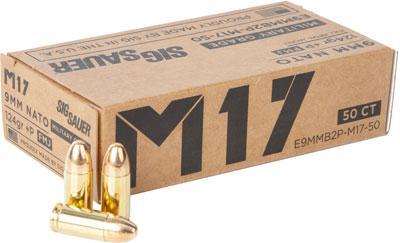 SIG E9mmb2pm17-50 9mm+ P 124 FMJ