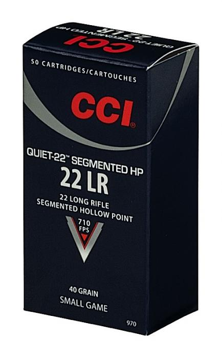 CCI Quiet-22 22lr 40gr SHP 50box/100case