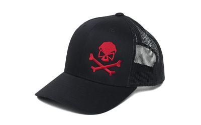 Phu Skull Trucker Hat Blk/red