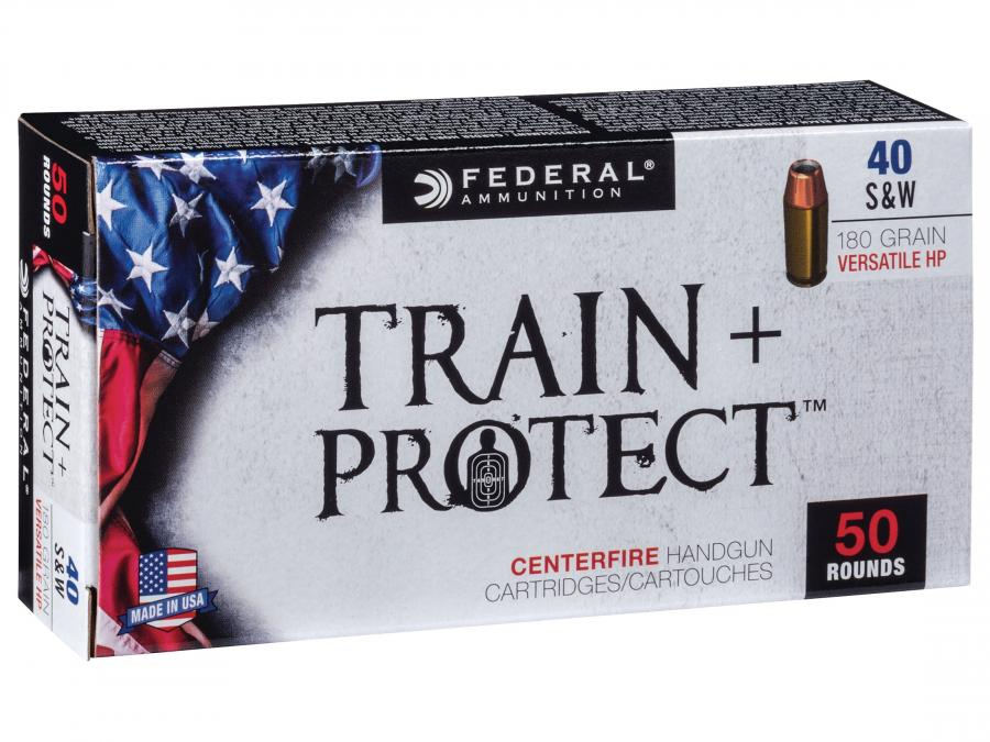 Federal Train+protect .40s&w 180gr Hp