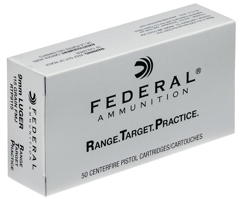 Federal RTP 9mm 115gr FMJ