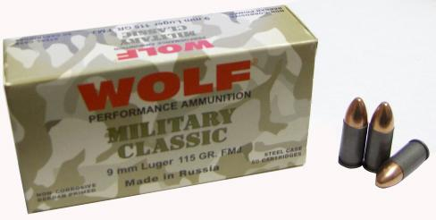 Wolf Military 9mm 115gr 500rd