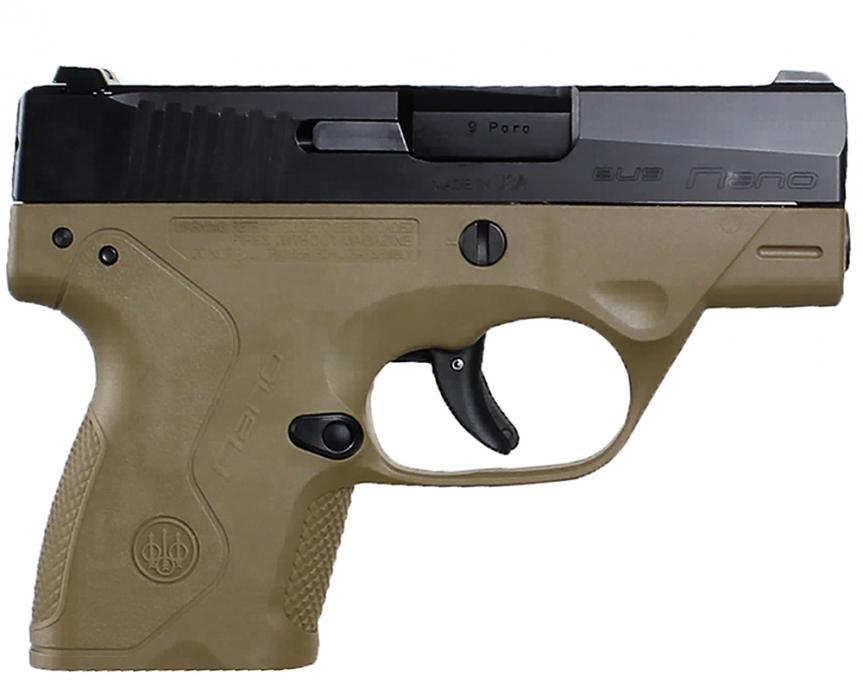 Beretta Nano 9mm FDE Frame 6rd
