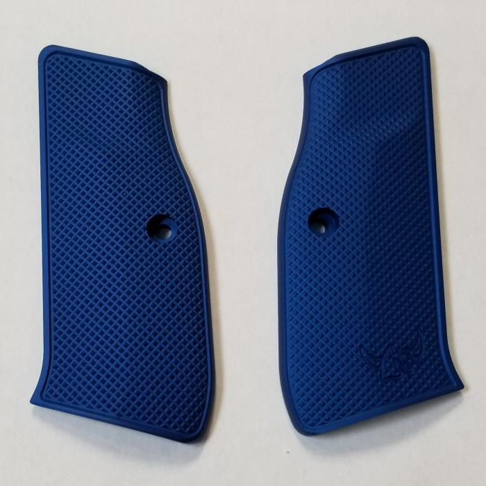 Henning Full Checkered Contour Grip Blue