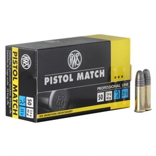 RWS Pistol Match 22lr 50rd