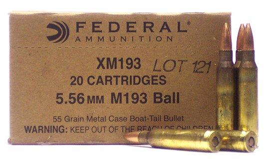 Federal XM 223 Remington/5.56 Nato Boat