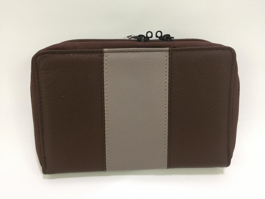 Brown/grey Leather Pistol Case