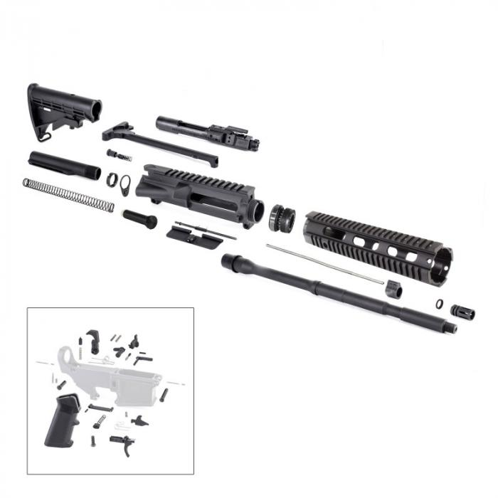 Complete Ar15 Rifle Kit Less Lower