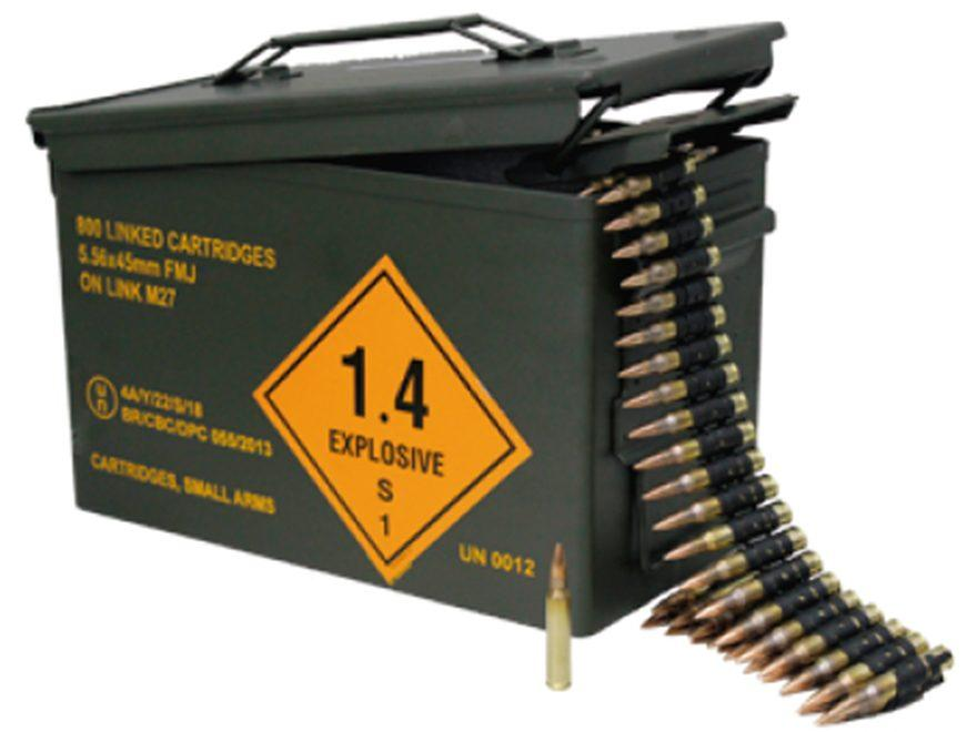 Magtech 800rd Linked Ammo IN CAN