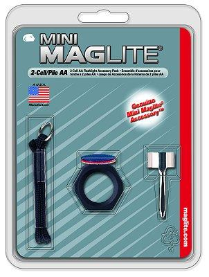 Maglite Mini Maglite Accessory Pack Clear/red/blue