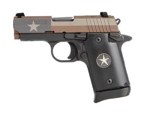 P938 Texas Flag 9mm Fde