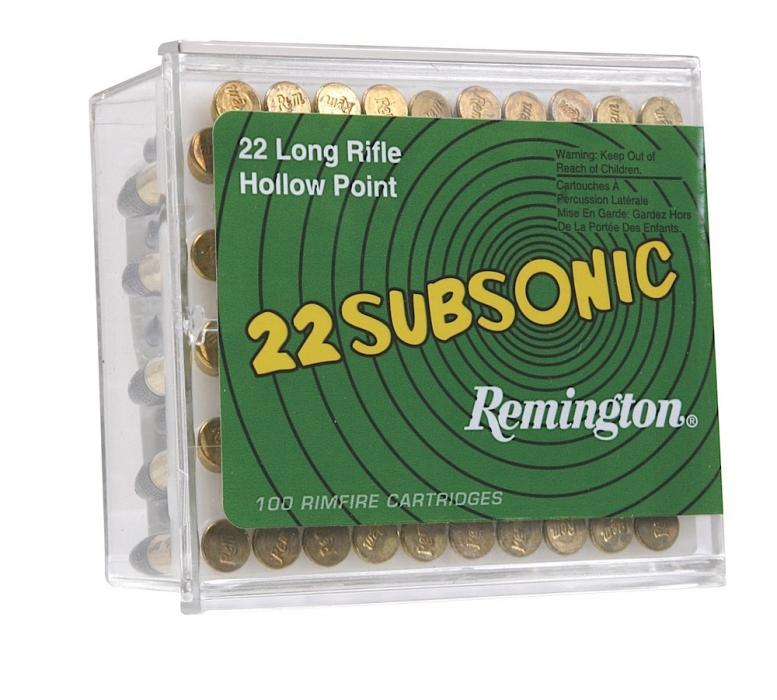 Remington Ammunition Subsonic 22 LR Hollow